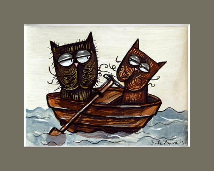 Na łódce – w brązach