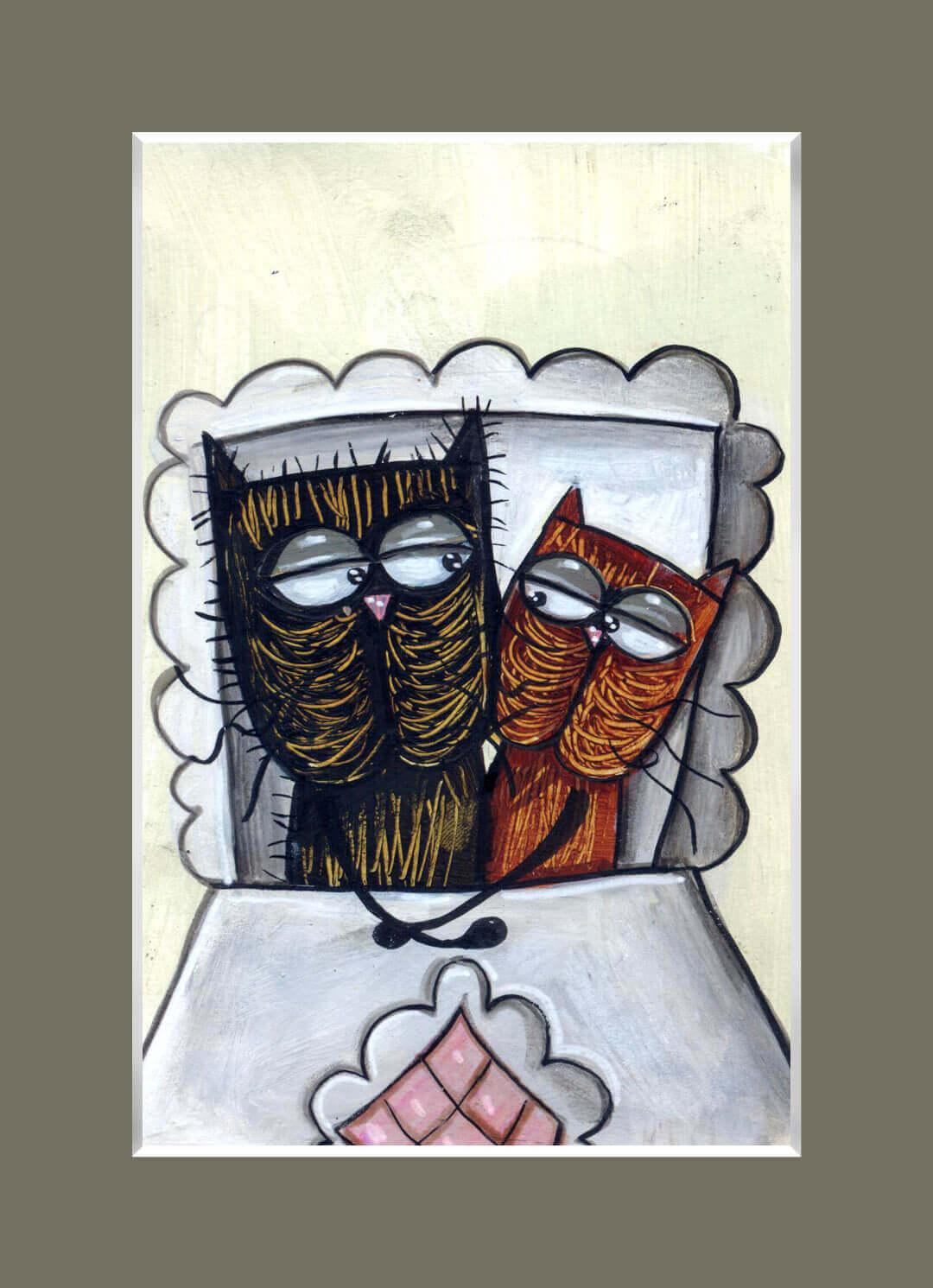 Łóżkowy portret – w brązach